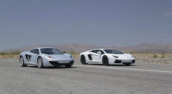 mclaren mp4 12c vs lamborghini aventador lp700 4. Black Bedroom Furniture Sets. Home Design Ideas