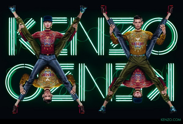 Kenzo x Jean Paul Goude campagne Automne Hiver 2012