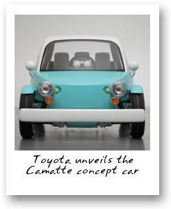 Toyota unveils the Camatte concept car