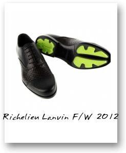 Richelieu Lanvin F/W 2012