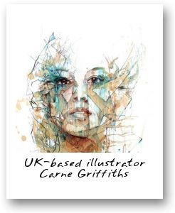 UK-based illustrator Carne Griffiths