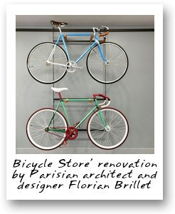 Bicycle Store' renovation by Parisian architect and designer Florian Brillet