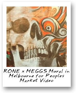 RONE x MEGGS Mural in Melbourne for Peoples Market