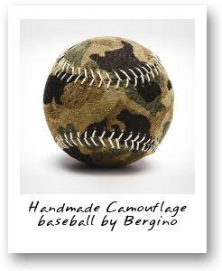 Handmade Camouflage baseball by Bergino
