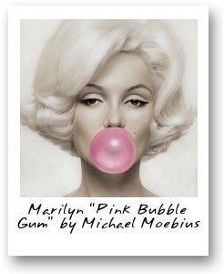 Marilyn 'Pink Bubble Gum' by Michael Moebius