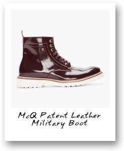 McQ Patent Leather Military Boot