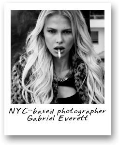 NYC-based photographer Gabriel Everett