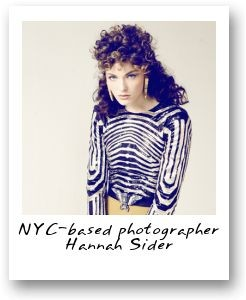 NYC-based photographer Hannah Sider