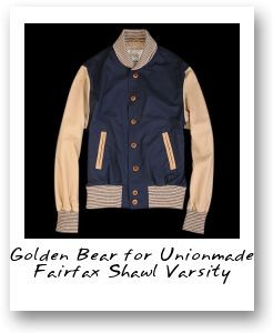 Golden Bear for Unionmade Fairfax Shawl Varsity