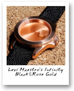 Levi Maestro's Infinity Piece Black & Rose Gold
