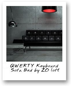 The QWERTY Keyboard Sofa Bed by ZO_loft