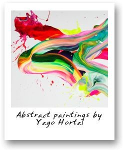 Abstract paintings by Yago Hortal