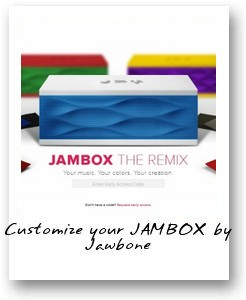 Customize your JAMBOX by Jawbone