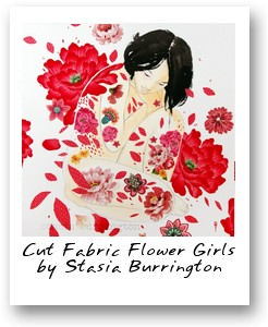 Cut Fabric Flower Girls by Stasia Burrington