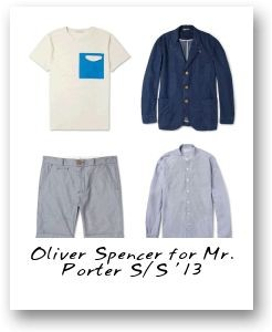 Oliver Spencer for Mr. Porter S/S '13