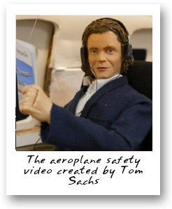 Aeroplane safety video created by Tom Sachs