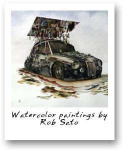 Watercolor paintings by Rob Sato
