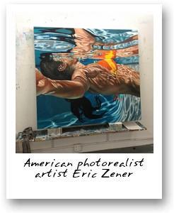 American photorealist artist Eric Zener