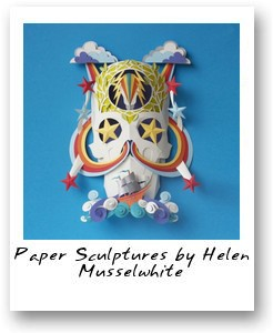 Paper Sculptures by Helen Musselwhite