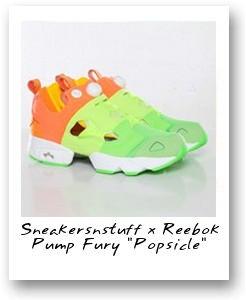 Sneakersnstuff x Reebok Pump Fury 'Popsicle'