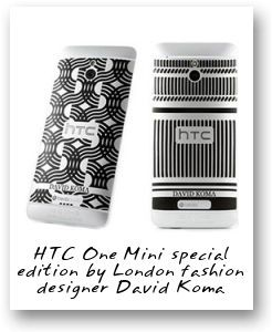 HTC One Mini special edition by London fashion designer David Koma