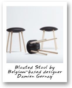 Bloated Stool by Belgium-based designer Damien Gernay