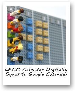 LEGO Calendar Digitally Syncs to Google Calendar