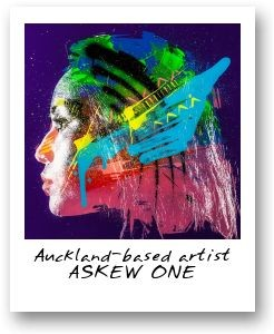 Auckland-based artist ASKEW ONE