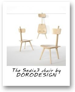 The Sedia3 chair by DORODESIGN