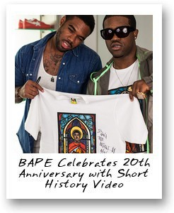 BAPE Celebrates 20th Anniversary with Short History Video