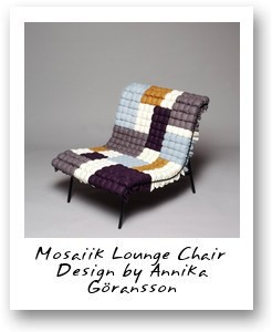 Mosaiik Lounge Chair Design by Annika Goransson