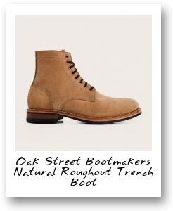 Oak Street Bootmakers Natural Roughout Trench Boot