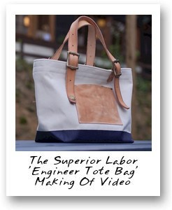 The Superior Labor 'Engineer Tote Bag' making of video
