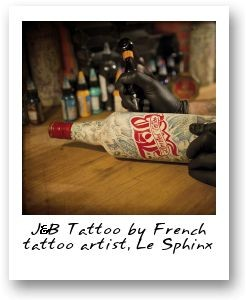 J&B Tattoo by French tattoo artist Le Sphinx