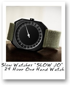 "Slow Watches ""SLOW JO"" - 24 Hour One Hand Watch"