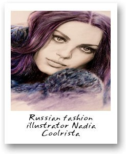 Russian fashion illustrator Nadia Coolrista