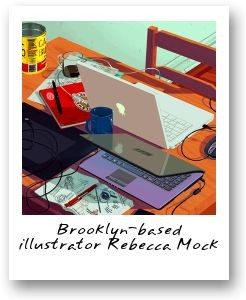 Brooklyn-based illustrator Rebecca Mock