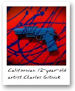 Californian 12-year-old  artist Charles Gitnick