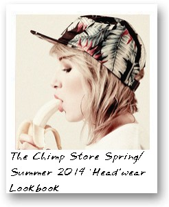 The Chimp Store Spring/Summer 2014 'Head'wear Lookbook