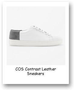 COS Contrast Leather Sneakers