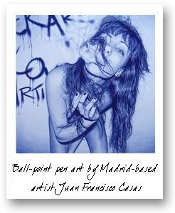 Ball-point pen art by Madrid-based  artist Juan Francisco Casas