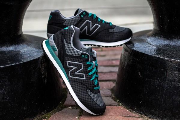 new balance 574 noir et turquoise