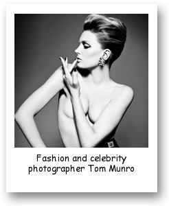 Fashion and celebrity photographer Tom Munro