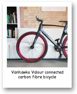 Vanhawks Valour connected carbon fibre bicycle