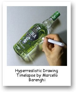 Hyperrealistic Drawing Timelapse by Marcello Barenghi