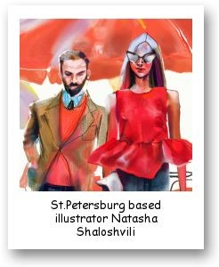 St.Petersburg based illustrator Natasha Shaloshvili