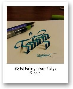 3D lettering from Tolga Girgin