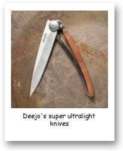 Deejo's super ultralight knives
