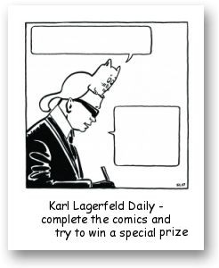 DIY comics by french artist Bl67 for Karl Lagerfeld Daily