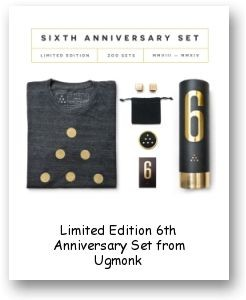 Limited Edition 6th Anniversary Set from Ugmonk